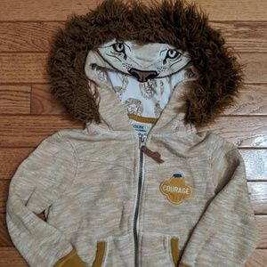 Osh Kosh Wizard of Oz Cowardly Lion Hoodie Costume
